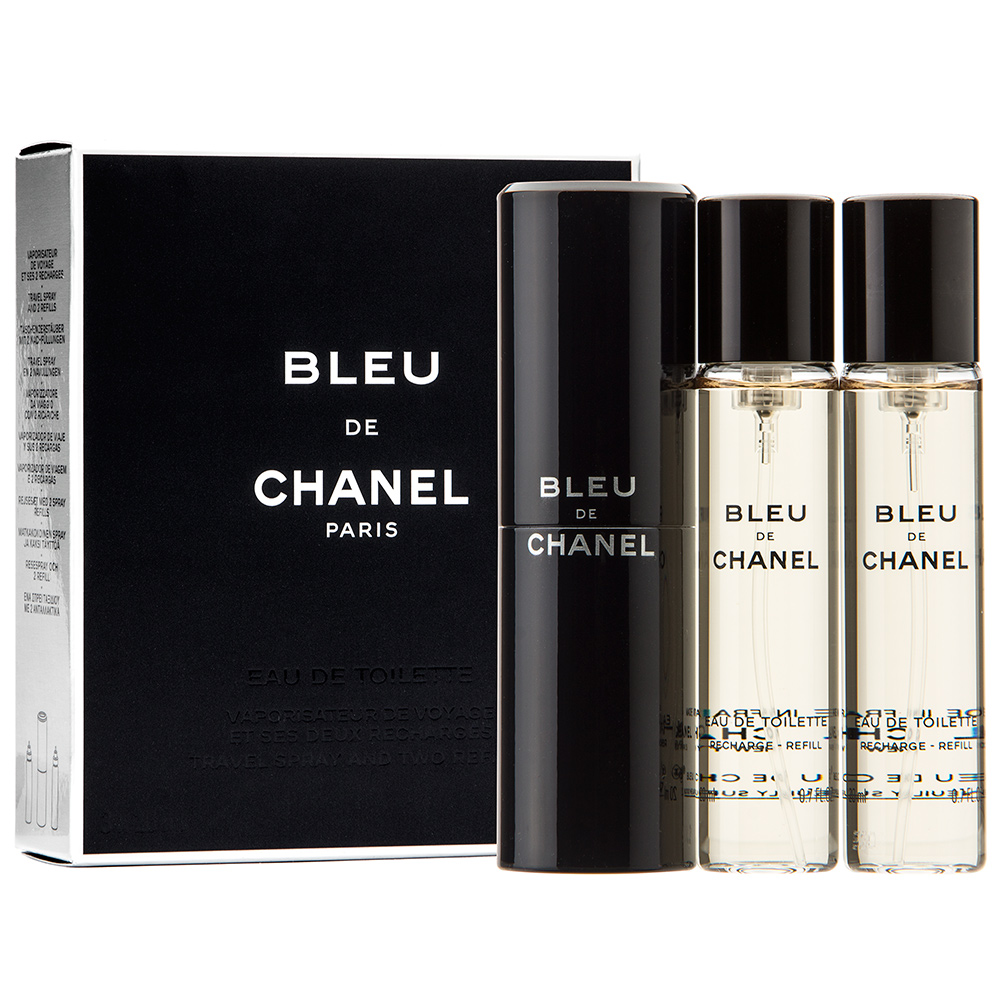 Chanel Bleu De Chanel 3 Travel Spray Refills M EDT 3x20ml