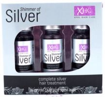 Xpel Shimmer Of Silver Hair Treatment Shots 3x12ml