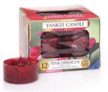 Yankee Candle čajové svíčky 12 x 9,8g Pink Hibiscus