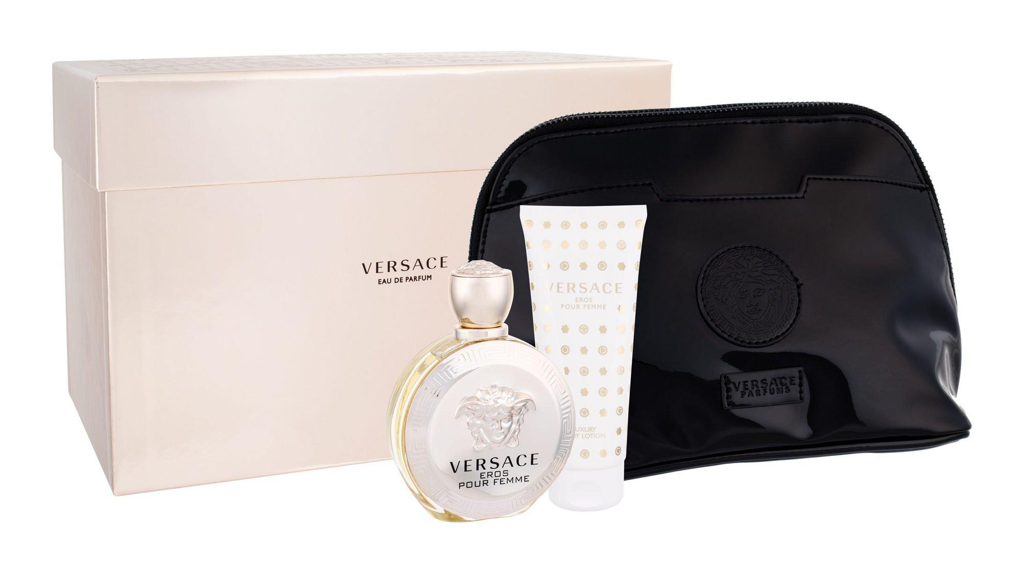 Versace Eros Pour Femme 100ml W EDP 100ml + 100ml tělové mléko + černá kabelka