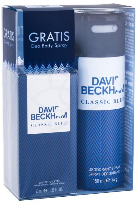 David Beckham Classic Blue M EDT 40ml + deodorant 150ml