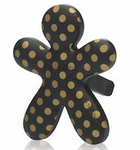 Mr&Mrs Fragrance Niki Ambre Musk - černá, zlatý puntík