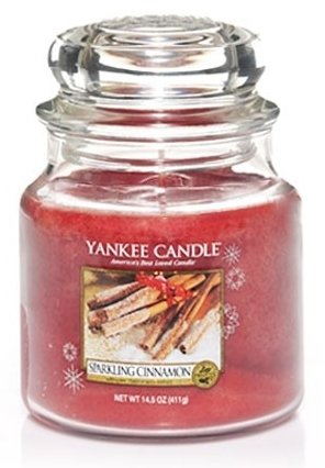 Yankee Candle Třpytivá skořice 411g