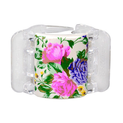 Linziclip Midi Hair Clip 1ks - White Pearl Flowers