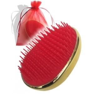 Detangler - kartáč na vlasy (zlato-červený)