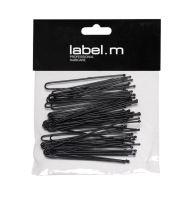 label.m U-Pin Straight Black 70mm (40)/Vlásenka do U rovná černá 70mm 40ks