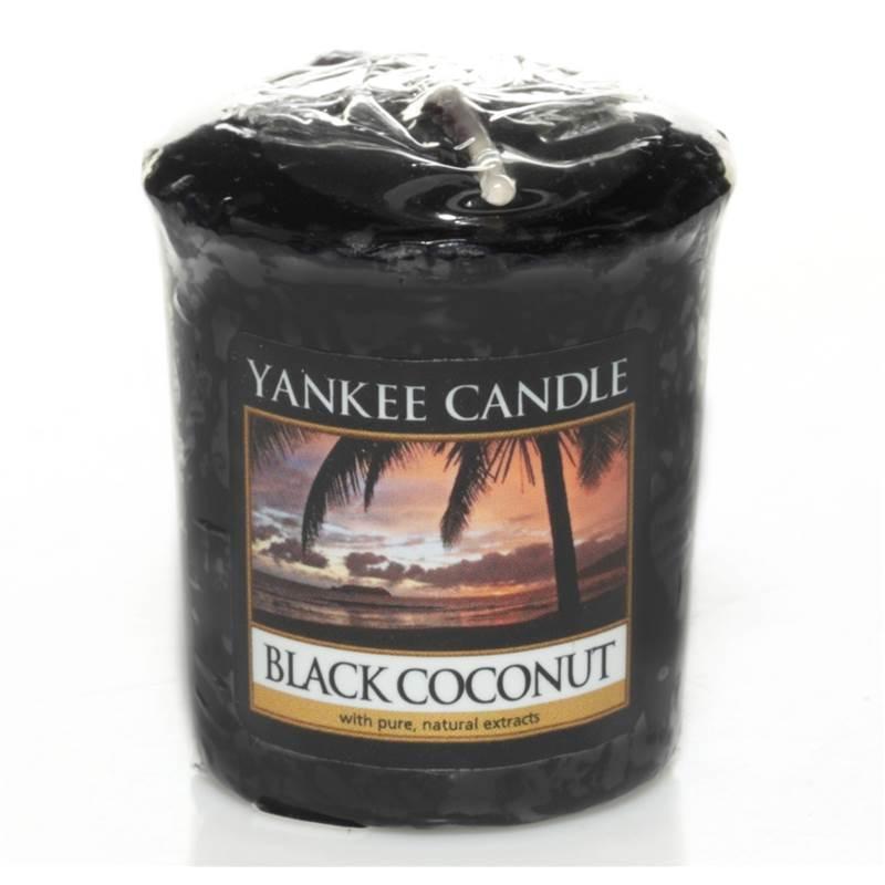Yankee Candle Votivní svíčka Černý kokos 49g
