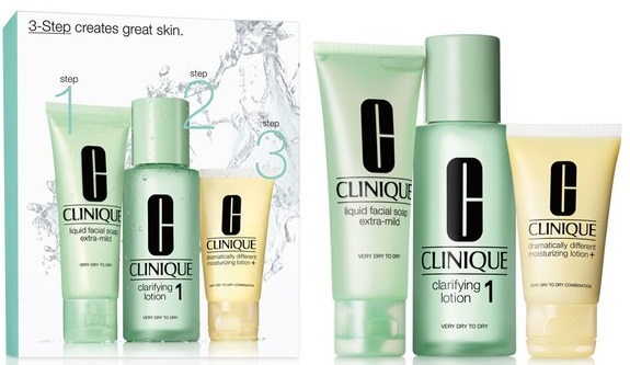 Clinique 3-Step Skin Care System 1 - Very Dry to Dry Skin