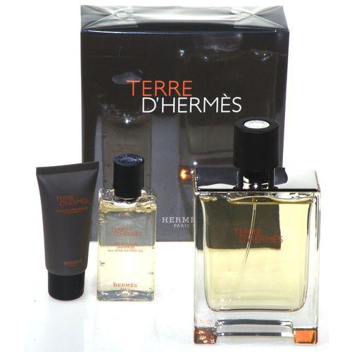 Hermes Terre d´ Hermes pro muže 100 ml toaletní voda + Sprchový gel 40 ml + balzám po holení 15 ml