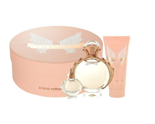 Paco Rabanne Olympea dárková kazeta pro ženy parfémovaná voda 50 ml + tělové mléko 100 ml + parfémovaná voda 6 ml