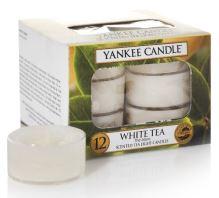 Yankee Candles čajové svíčky 12 x 9,8g White Tea
